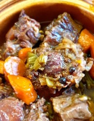 Rich oxtail stew